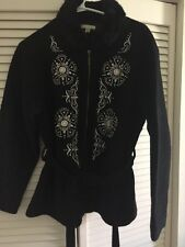 Cayson JUNIORS XL BLack Wool Embroidered Beaded Jacket