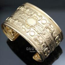 Victorian Egyptian Gold Brocade Brighton Palace Sculpture Bracelet Bangle Cuff H
