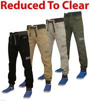 Mens Chino Jeans Designer Cargo Combat Bermuda Casual Cotton Trousers Pant 30-40