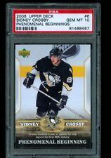 2006 Upper Deck #6 Sidney Crosby Phenomenal Beginnings PSA 10