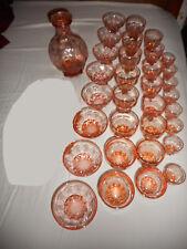 service de 4 x 8 verres et 1 carafe PORTIEUX - alcool Porto vin champagne