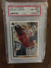 1991 Upper Deck #SP1 Michael Jordan Baseball, Graded PSA 8.5