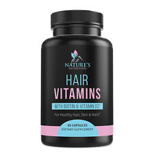 Hair Skin Nails Vitamins with Biotin Highest Potency 1000mg Hair Growth Support