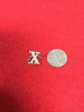CIVIL WAR ERA HAT PIN LETTER X WITH WIRE ATTACHMENTS
