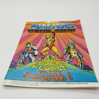 Vintage Masters Of The Universe He-Man Rock People To The Rescue Mini Comic MOTU