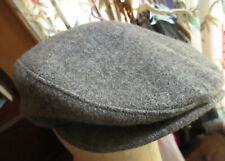 LARGE True Vtg Thinsulate Wool Hat Newsboy Cabbie Cap W Ear Flaps USA Made