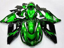 Green Injection Fairing Body Kit For Kawasaki Ninja ZX 14R ZZR1400 2006-2011 07