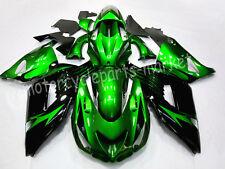 Green Injection Fairing Body Kit For Kawasaki Ninja ZX 14R ZZR1400 2006-2011 07