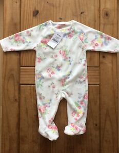 Bnwt Baby Girl Next Fleece Sleepsuit 3-6 Months