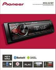 Pioneer Bluetooth Car Stereo Receiver AM/FM Radio Audio System Single DIN Dash