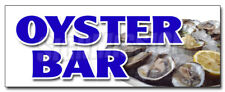 OYSTER BAR DECAL sticker fresh clams crabs seafood beer liquor restaurant