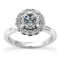 .80 Carat Round Cut H/SI Solitaire Engagement Ring 14k White Gold