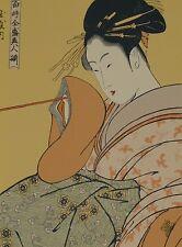 Utamaro.SIGNED Lithograph.LIMITED Ed.RICE Paper. #11/125.Geisha Girl.Large Asian