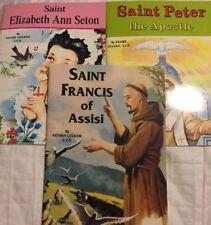 Saint Catholic Books: Lot (3) Father LOVASIK NEW Saint FRANCIS, Peter, Elizabeth