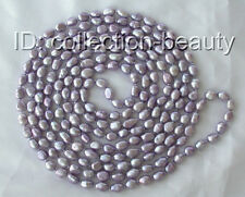 """stunning long 100"""" 11mm lavender baroque freshwater cultured pearl necklace m677"""