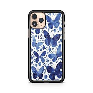 Beautiful Blue Painted Pretty Majestic Butterflies Pattern Fine Phone Case Cover