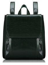 Women's Black PU Leather Backpack / Shoulder Bag