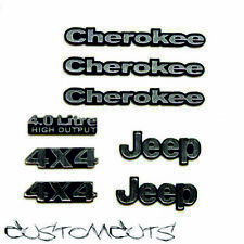 Jeep Cherokee emblemas axial ProLine body 1:10 RC scalecrawler Decals Emblems