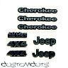 Jeep Cherokee Embleme Axial Proline Body 1:10 RC Scalecrawler Decals Emblems