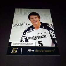 KIM ANDERSSON THW KIEL Handball signed signiert 10x15 Autogrammkarte !