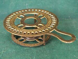 Stövchen Rechaud Teelicht Warmhalteplatte Antik Stil Massiv Alt Brüniert Messing
