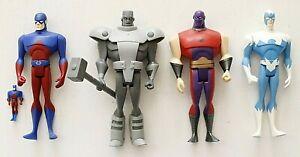 JUSTICE LEAGUE UNLIMITED  ATOM SMASHER, STEEL, ATOM & DOVE   DC COMICS
