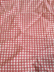 Vintage Ralph Lauren Red & White Gingham Check Twin Fitted and Flat Sheet