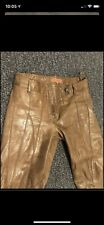 Manning Cartell Tan Leather Pants size 6