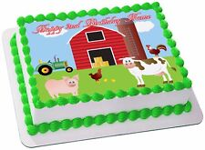 Farm Barn Animals REAL EDIBLE ICING CAKE TOPPER PARTY IMAGE FROSTING SHEET