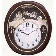 Rhythm Princess Fantasy Musical Wall Clock Swarovski Classical Xmas 30 Melodies