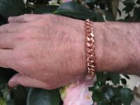 Ladies Solid Copper Link Bracelet CB009-1//8 of an inch wide.
