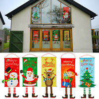 Merry Christmas Santa Claus Banne Home Decor Party Hanging Crafts Supplies us