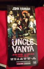 John Hannah firmato Lo zio Vanja TEATRO Flyer porte scorrevoli 100% AUTENTICO