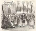 A5109 Via di parigi nel 1800 - Figurata - Xilografia - Stampa antica del 1843