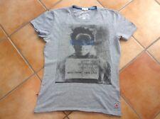 T-shirt Pépé Jeans Gris Chiné Taille S Avec Motif A Manches Courtes