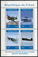 Chad 2019 MNH WWII WW2 Aircraft American Mustang 4v M/S Aviation Military Stamps