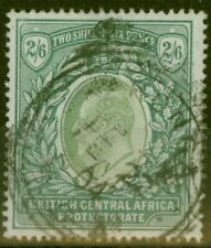 More details for b.c.a nyasaland 1903 2s6d grey-green & green sg63 fine used