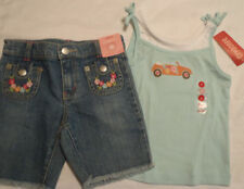 GYMBOREE Size 4 Floral Reef Adjustable Waist Bermuda Short Shirt Outfit NWT