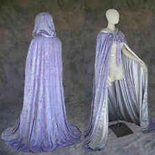 Lined Lavender Velvet Renaissance Medieval Cosplay Cloak Cape Wedding LARP Wicca