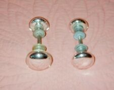 "Two (2) ""As Is"" SILVERED GLASS DOOR KNOBS: (1) 2 1/2"" Wide, and (2) 2 1/4"" Wide."