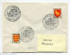 FRANCE, timbres 1003 et 1004, SUR LETTRE, CACHET FOIRE PONT L' EVEQUE, 10.9.56