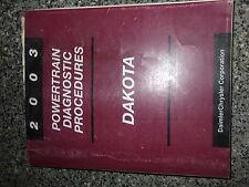 2003 Dodge Dakota Powertrain Diagnostic Procedure Manual OEM Factory Mopar