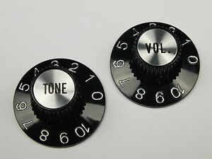 Pair of WITCH HAT KNOBS 1 VOL. & 1 TONE Chrome or Gold USA Gibson correct style