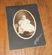 Old Antique CDV Photograph Little Baby in Christening Outfit Union Hill N.J.