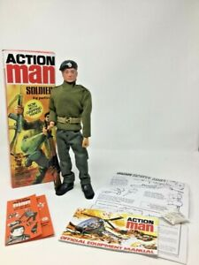 Vintage Action Man 40th Soldier Flock Hair Boxed
