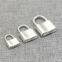 925 Sterling Silver Padlock Charm Lock Pendant Can Be Opened