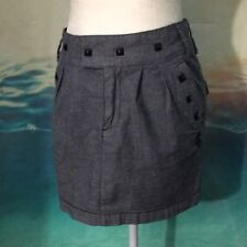 Obey Propaganda Studded Mini Skirt Pockets Size 27""
