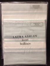 Laura Ashley Forbury Stripe SINGLE Bed Duvet Cover + 1 Pillowcase Duck Egg - NEW