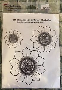 Heartfelt Creations AZTEC GOLD SUNFLOWERS  HCPC2293 Scrapbooking Rubber Stamp