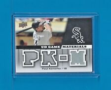 PAUL KONERKO GAME-WORN 2009 Upper Deck UD Game Jersey #GJ-PK Chicago White Sox
